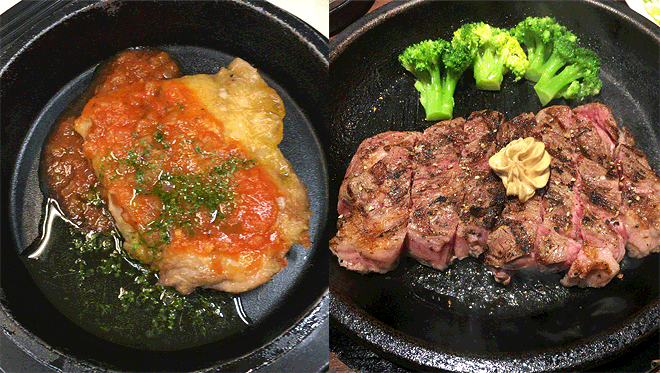 鶏肉と牛肉